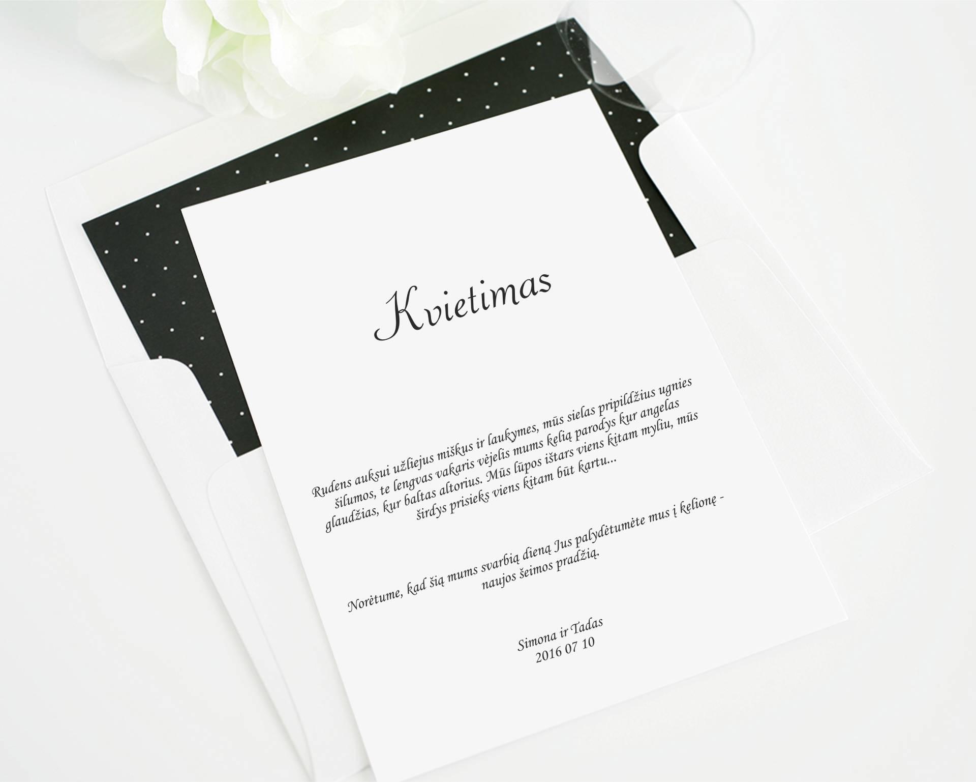 Vestuviu kvietimas